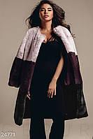 Меховое пальто Сolor Block Gepur 24771