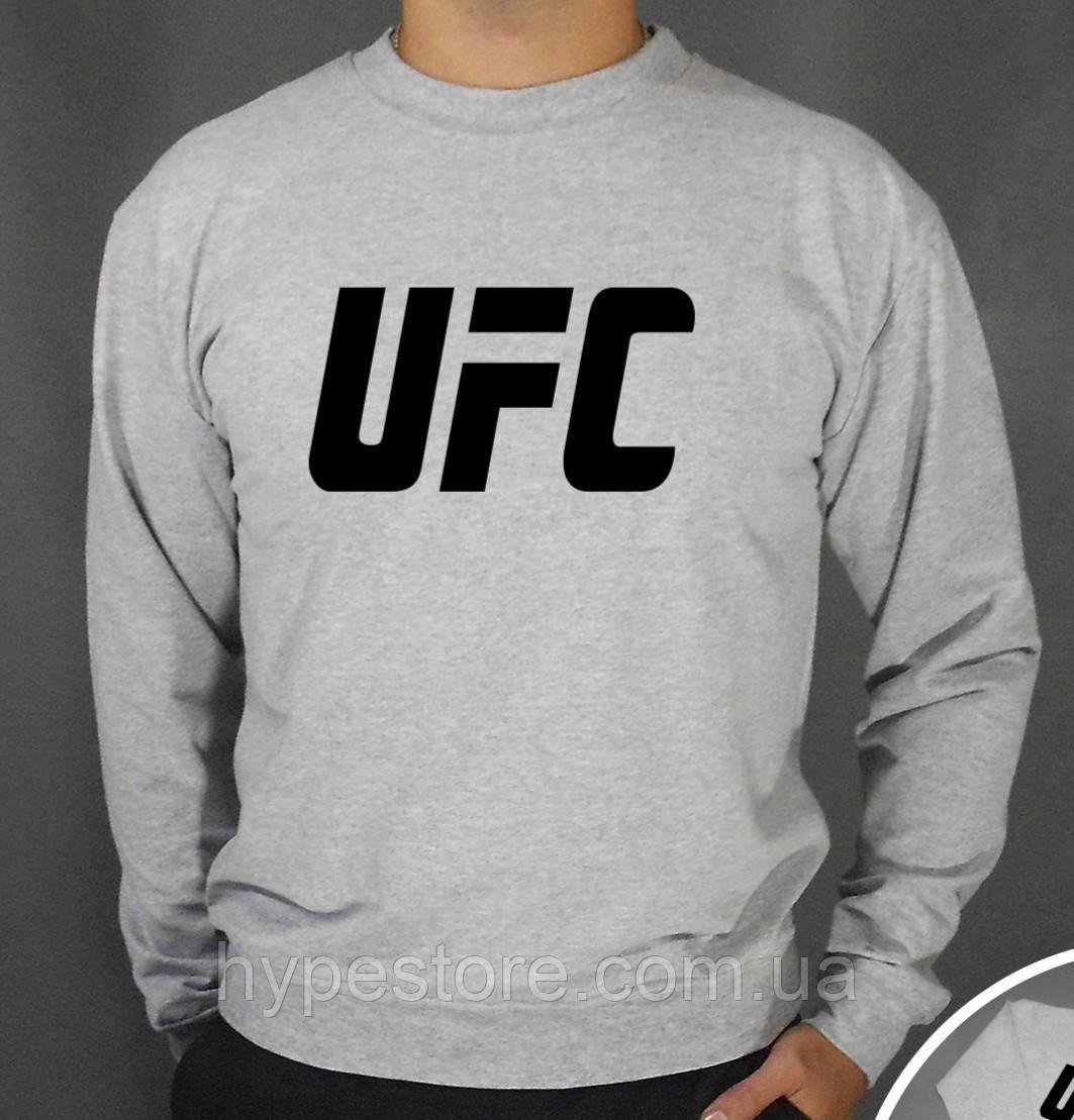 Мужской зимний спортивный свитшот на флисе, кофта UFC, Реплика