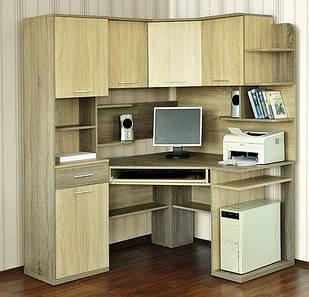 Комп'ютерний кутовий стіл Джой з надстройкою Летро