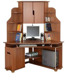 Комп'ютерний кутовий стіл Форум з надстройкою Летро