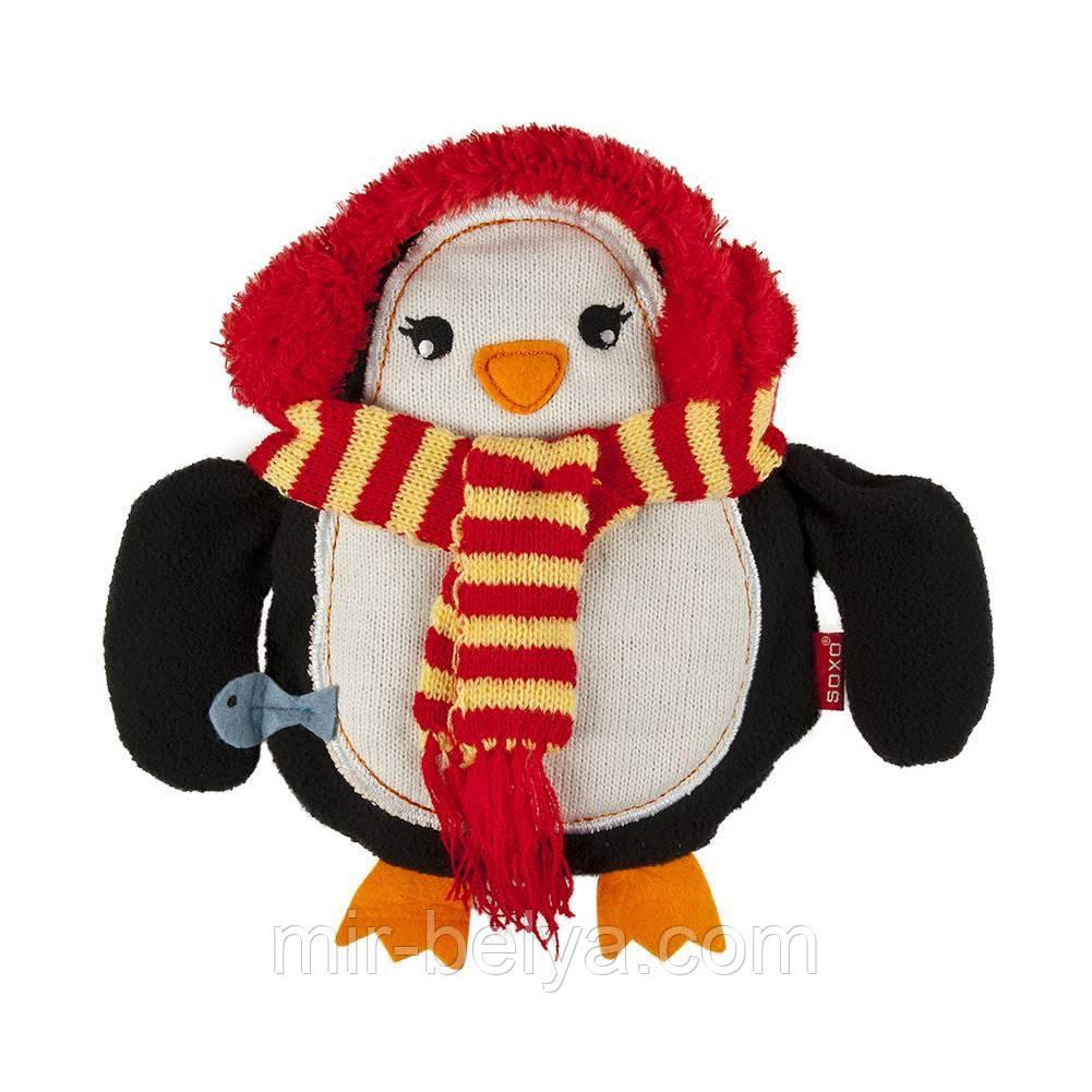 Мягкая игрушка - грелка SOXO пингвин в подарочной упаковке