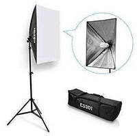 Комплект ESDDI PS040 (софтбокса 50 x 70 см, стойка, лампа и сумка для переноски)