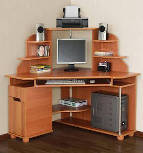 Комп'ютерний кутовий стіл Форум малий з надстройкою Летро