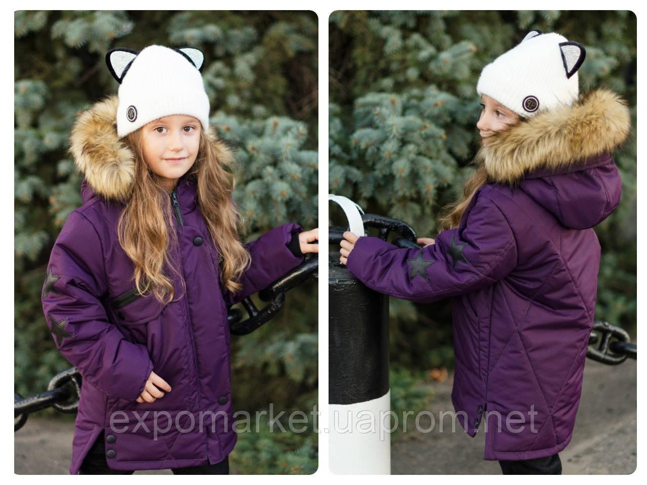 Куртка парка подростковая зимняя