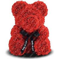Мишка из Роз 40 см (Красный) 650 шт. 3D Роз
