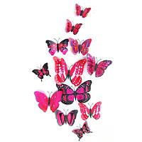 Декор для квартиры 3D бабочки  Фиолетовые (072427), фото 1