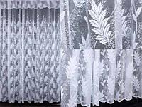 Жаккардовая тюль с галстуком.  Код 074т (5м. ширина-2,5м. высота)