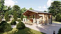 Дом деревянный из профилированного бруса 6х6 м