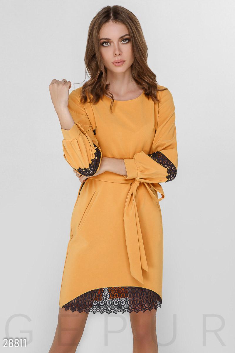 4dcd846fa19 Прямое платье с кружевом Gepur 28811  продажа