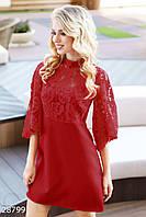 Трендовое платье с гипюровым верхом Gepur 28799