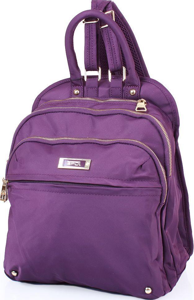 94462fa1e8c7 Женский тканевый рюкзак EPOL VT-9060-baclagan 13л, фиолетовый - SUPERSUMKA  интернет магазин