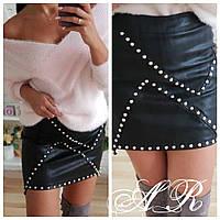 Женская модная юбка из кожи , фото 1