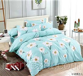 """Постельное белье на двухспальную евро кровать """"Ромашка"""""""