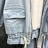 Куртка джинсовая женская зимняя с большим меховым капюшоном , фото 8