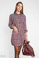 Теплое платье-рубашка Gepur 28493