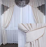 Комплект шторы с ламбрекеном на карниз 3м. Код 050лш164