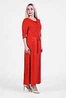 Женское нарядное платье  большого размера 1905017/2 Красный