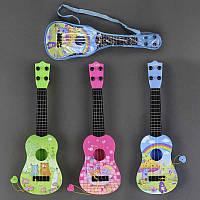 Гитара детская акустическая  77-02 D (96) 3 цвета, в сумке
