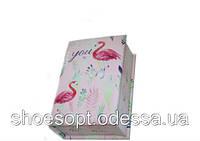 Шкатулка Фламинго цветы 20х13,5х6,5 см, фото 1