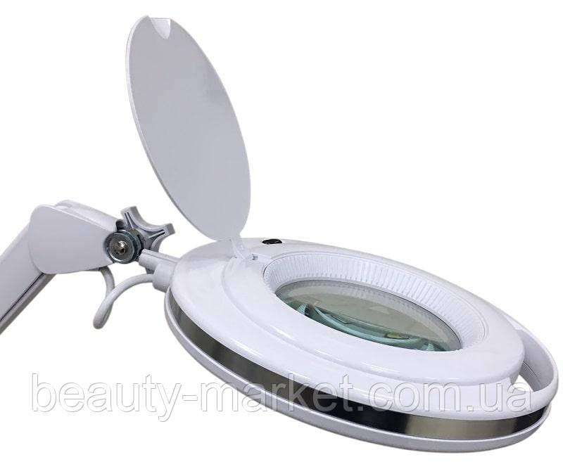 Лампа-лупа 6017H LED, холодный свет, 9W