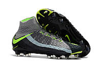 Футбольные бутсы Nike Hypervenom Phantom III DF FG Black/Volt/Dark Grey, фото 1