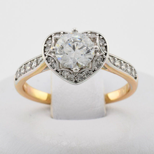 """Кольцо Xuping Jewelry  """"Алисия"""" размер 17, медицинское золото, позолота 18К + родий. А/В 1935"""