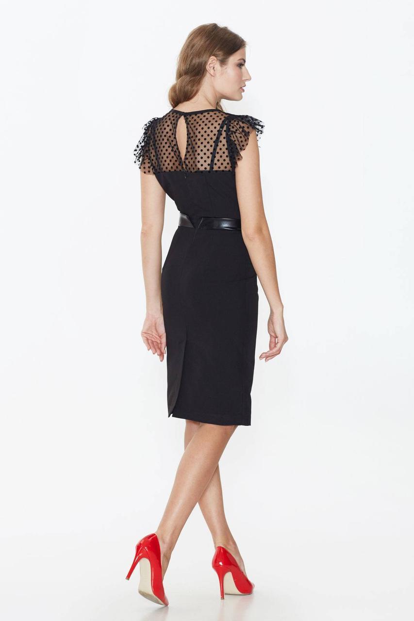 a49c62e55b4 ... элегантное черное платье с сеткой и кружевом ТМ Nenka p.S