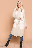Комбинированное женское пальто Gepur 28274