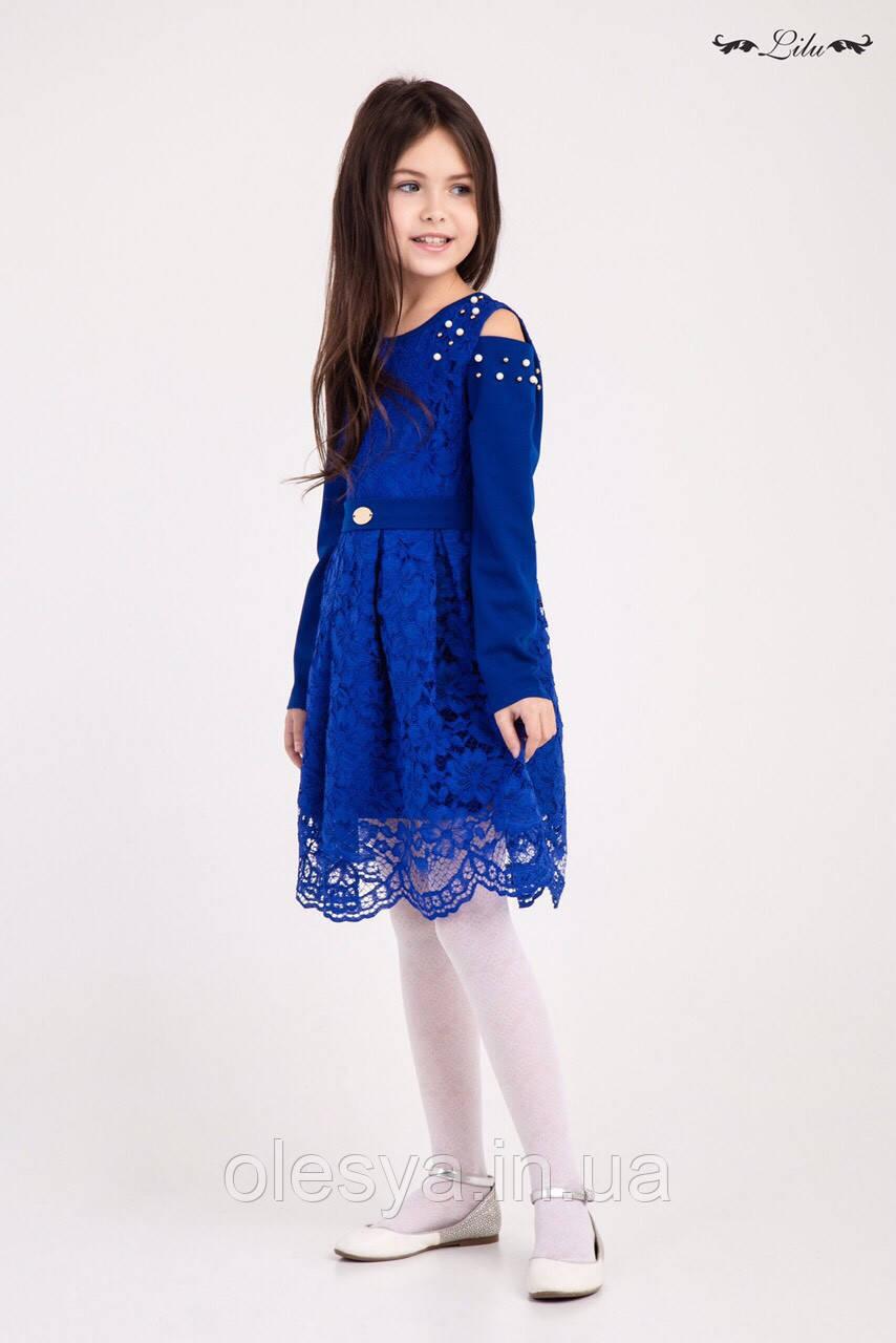 Платье гипюровое  на девочек Размер 134