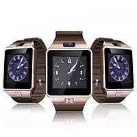 Смарт часы DZ09 оригинал с камерой, сенсорный экран, SIM (GOLD)
