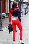Трехцветный женский утепленный спортивный костюм, фото 3