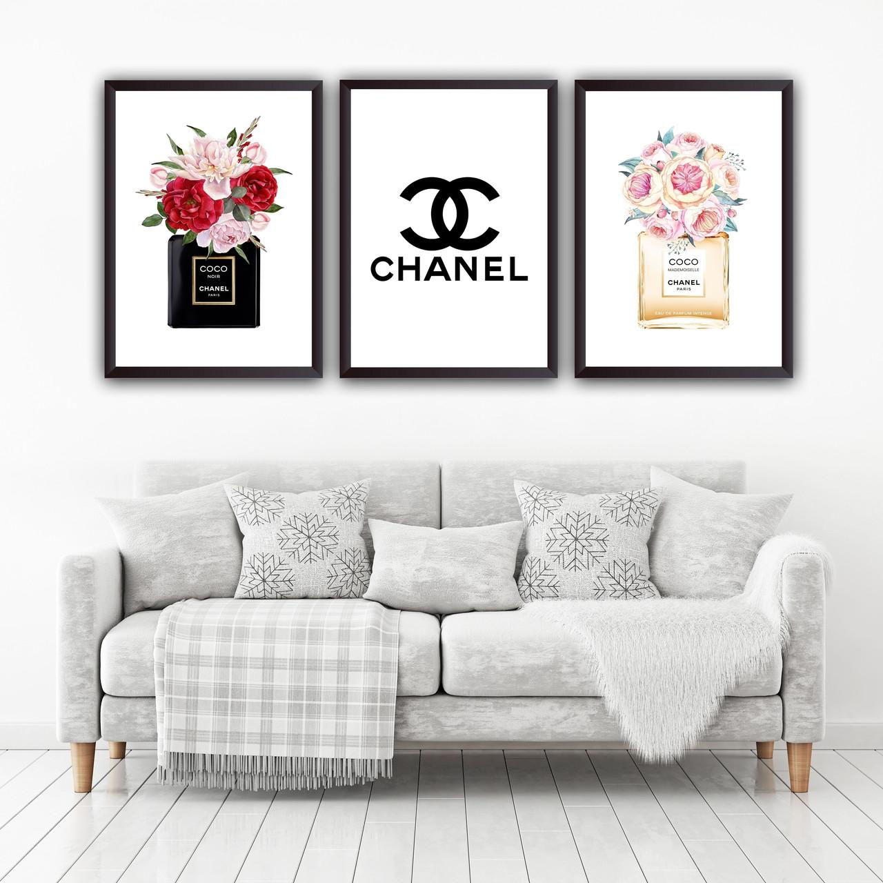 Набор постеров в рамках Chanel 3 шт. №3