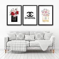 Набор постеров в рамках Chanel 3 шт. №3, фото 1