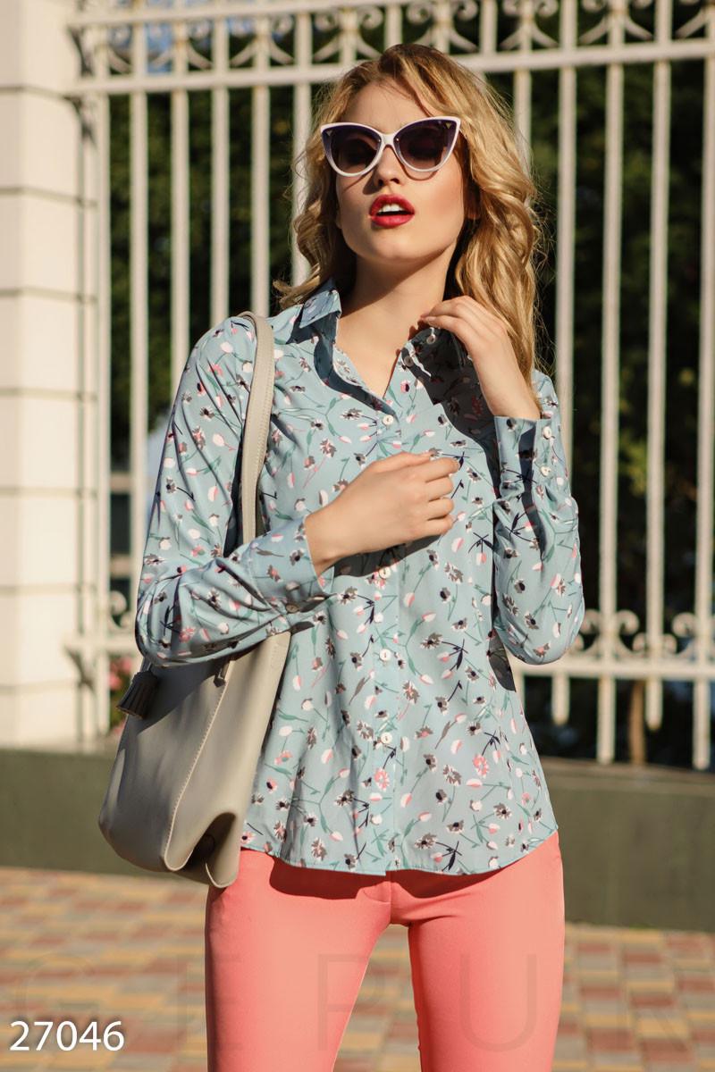 3b8aee1b53b Рубашка с Цветочным Принтом Gepur 27046 — в Категории