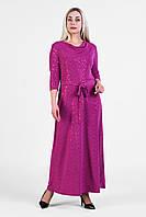 Женское нарядное платье  большого размера 1905017/4 Фуксия