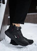 Мужские зимние кроссовки Nike Air Huarache Winter Acronym черные на меху