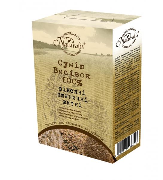 «Суміш висівок (вівсяні, пшеничні, житні)» 250 г -при запорах і застої жовчі