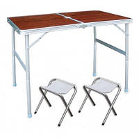 Складной туристический стол(с 2 Стульями) для пикника