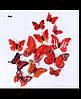 Виниловые 3d наклейки на стены бабочки Красные (07849834)