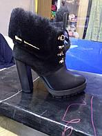 Ботинки на каблуке (зима)