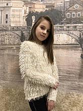 Подростковый свитшот для девочки Травка р.34-42 белый