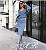 Женский красивый костюм: юбка миди+кофта (2 цвета)
