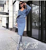 Женский красивый костюм: юбка миди+кофта (2 цвета), фото 1
