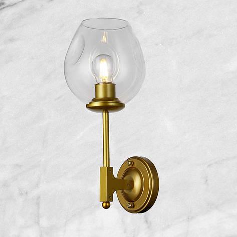 "Золотая бра ""Молекула"" (56-LWPR0231-1 GD) прозрачный, фото 2"