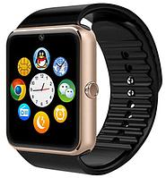 Смарт часы GT08 оригинал с камерой, сенсорный экран, SIM (GOLDEN+BLACK)