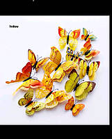 Бабочки на холодильник Желтые (05345454)