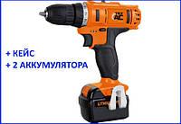 ✅ Аккумуляторный шуруповерт ТехАС TA-01-170 + кейс, фото 1