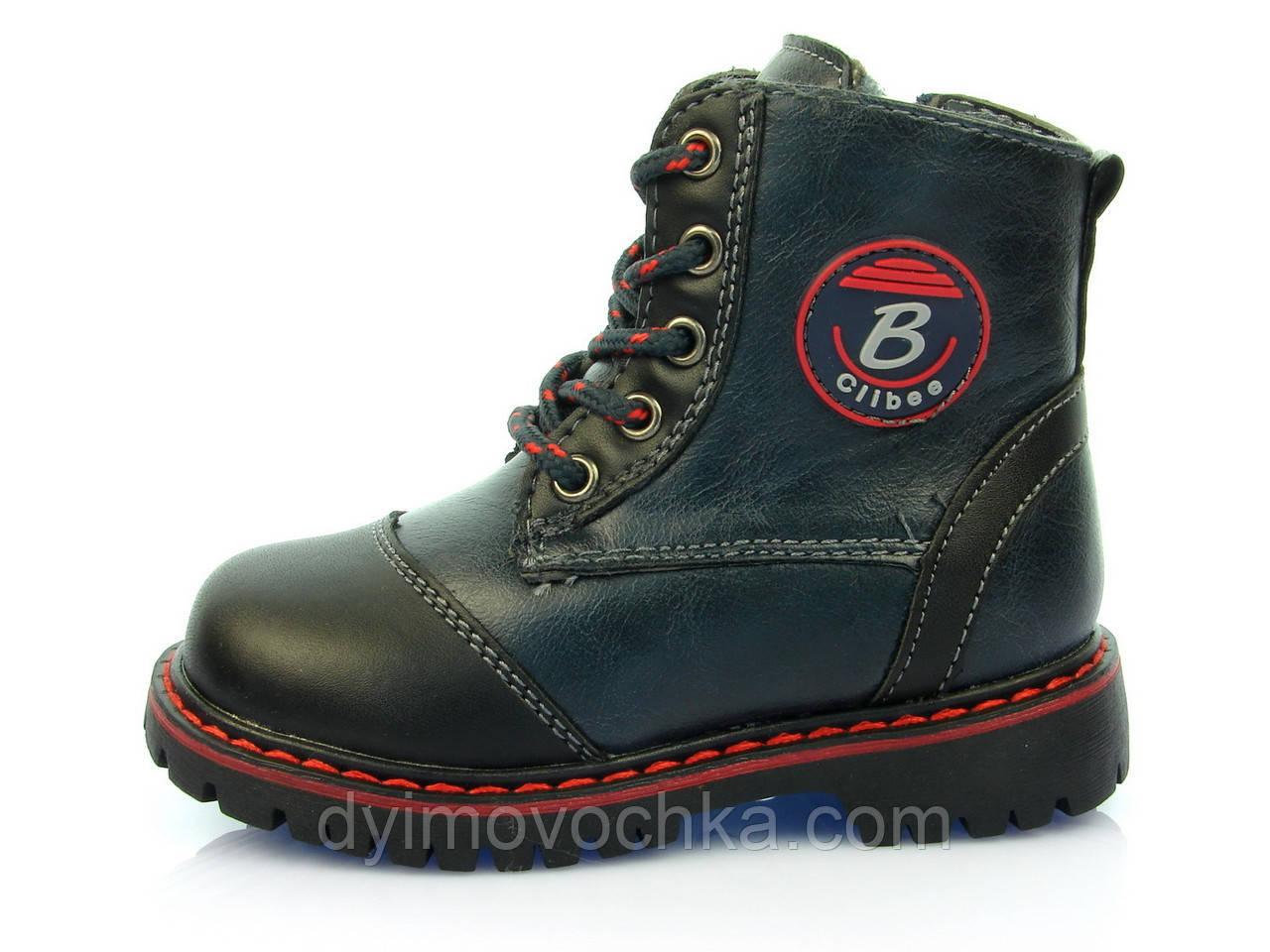 Детские Зимние Ботинки Clibee H-36 Син+черный 4f61b87fc8c75