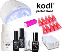 """Стартовий набір для покриття нігтів гель лаком Kodi з лампою SUN One 48 w """"№1"""""""