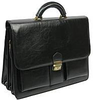 Элегантный мужской деловой портфель из искусственной кожи 4U Cavaldi 10-EX black